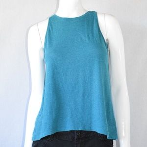 Old Navy Blue Sleeveless High Low Tank Size Small